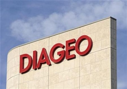 Signage is seen on the outside of Diageo offices in west London  Diageo launches new venture to partner with leading tech start-ups around the world diageo